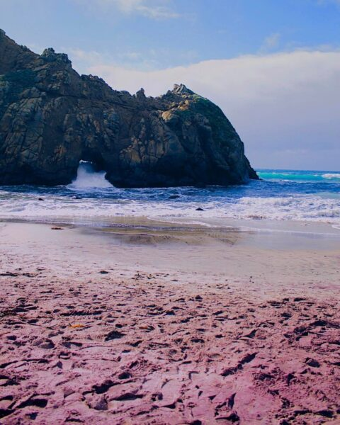 Most Spectacular Pink Beaches in The World - Pfeiffer Beach Ideal For Massage Therapy