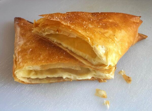 Cheap Food in Greece - Tiropita is Cheese Pie in Triangle Shape For Cheese Lovers
