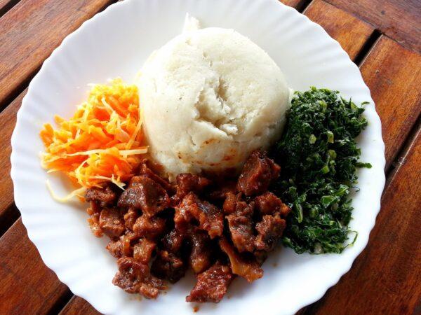 Most Delicious Food in Tanzania - Ugali A Dish Made With Corn Flour & Cassava Powder