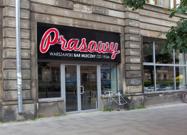 Cheap Restaurants in Warsaw For Tourists - Bar Mleczny Prasowy Located on Marszałkowska Street