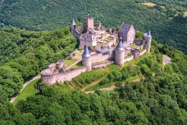 Best Attractions in Luxembourg - Bourscheid Castle Comes With a beautiful View of The Village