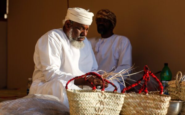 Middle East Travel Guide - Omani handicrafts Includes Weaving Palm Handicrafts
