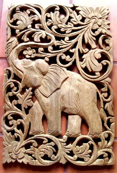 Shopping in Asia - Wood Carving Where Skillful Locals Offer Products to Travelers