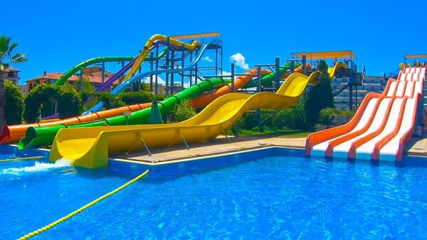 Sunny Beach Bulgaria - Action Aqua Park Has Many Slides And Nice Swimming Pools