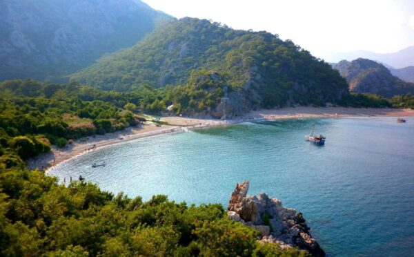 Best Beaches in Antalya - Cirali Beach Includes Historical Remains of Roman Settlements