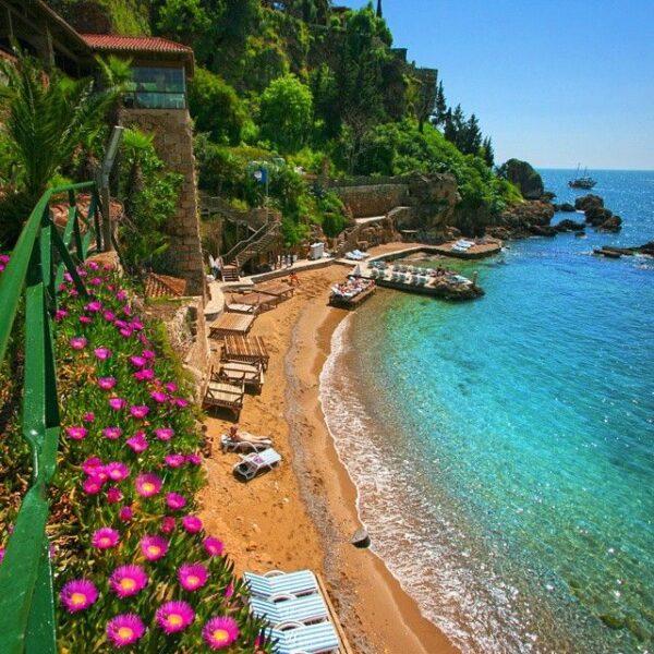 Turkey Travel Tips - Mermerli Plajı is Located Next to The Old Port of Kaleiçi