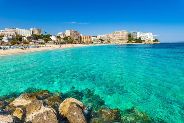 Best Beaches in Mallorca - Magaluf Beach is Located in The Southwest of The Island