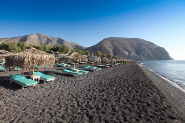 Beaches in Santorini - Perissa Santorini Beach is The Accommodation of Many Tourists