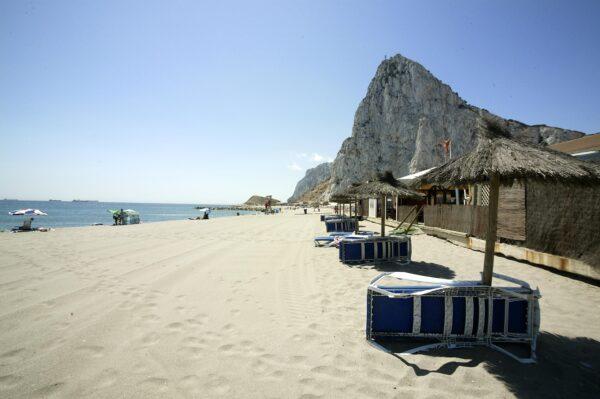 Gibraltar Beach Guide - Eastern Beach Gibraltar is Where Swimmers Watch Flights Land