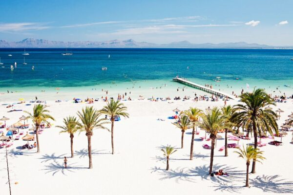 A Guide to Alcudia Beaches - Playa de Alcudia is A Long White Sandy Beach