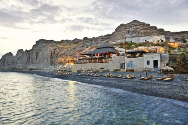 Beaches in Santorini - vlychada beach Offers Great Grilled Fish And Summer Accommodation