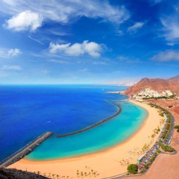 Spain Travel Guide - Playa Las Vistas or Playa de Las Teresitas is on The South Coast