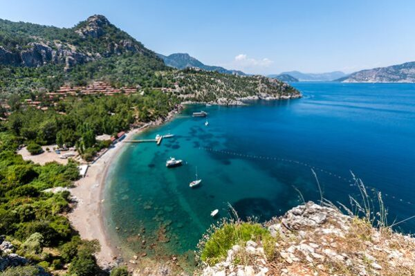 A Guide to Marmaris Beaches - Turunç plajı is Located in The West of Marmaris