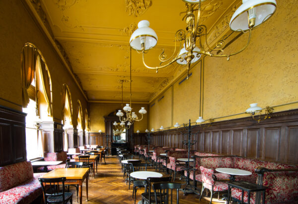 Café Sperl Has Fancy Seats And Wooden Interior Design - Top Vienna Coffee Houses