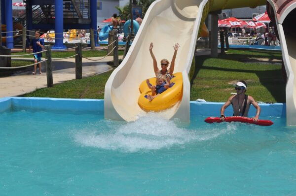 Spending Time in Gulf Islands Waterpark Which is Next to the Zip'N Fun Adventure Park - Gulf Islands Waterpark