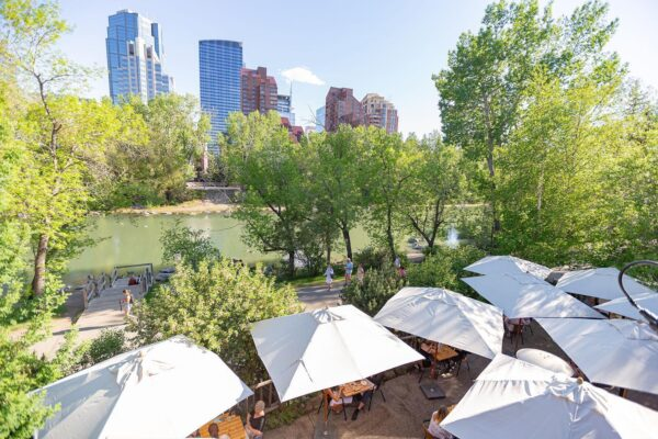 Best Restaurants in Calgary - River Café is Located in The Prince's Island Park