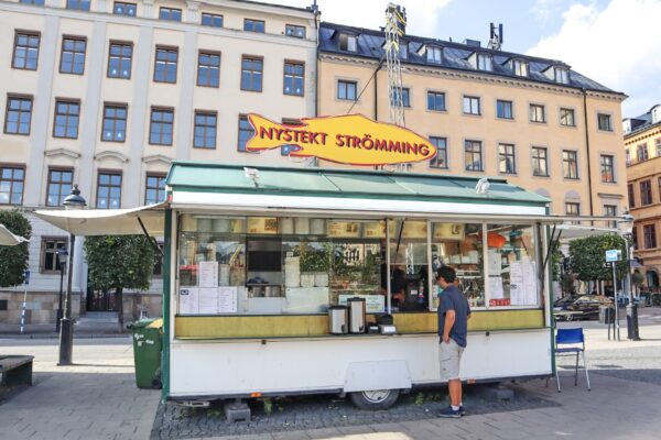 Places to Get Lunch in Stockholm - Food Carts Offer Swedish Food Such As Fried Strömming